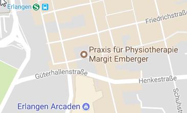 Kontakt-Seite: Lage in Erlangen